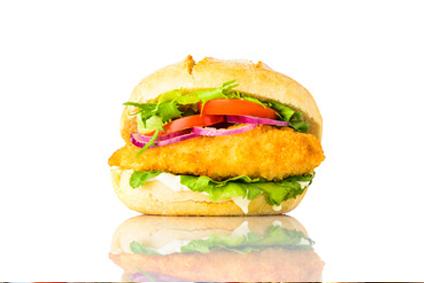 Hamburger de poulet au fromage de brebis